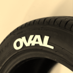 White OVAL Tire Graphics