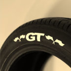 White GT Tire Graphics