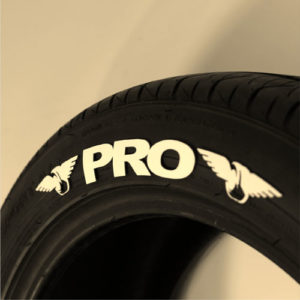 White Pro Tire Graphics