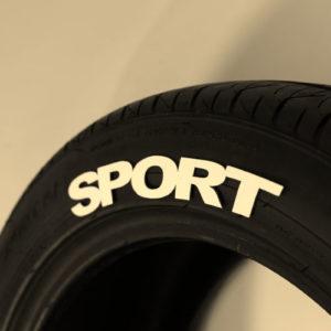 White SPORT Tire Graphic
