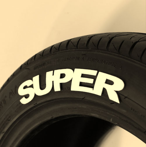 """SUPER"" Tire Graphic"