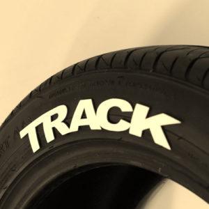 White Track Tire Graphics