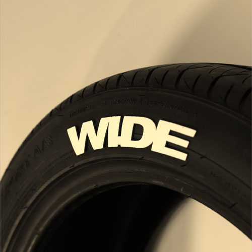 White WIDE Tire Graphics