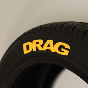 Yellow Drag Tire Graphic