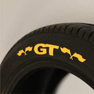 Yellow GT Tire Graphics