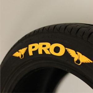 Yellow PRO Tire graphic