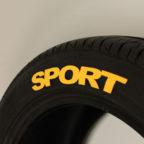 "Yellow ""SPORT"" Tire Graphic"