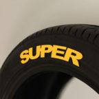 "Yellow ""SUPER"" Tire Graphics"