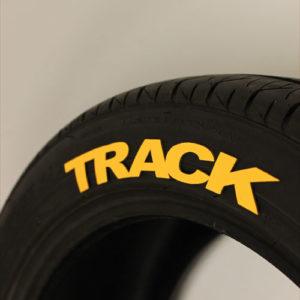 Yellow TRACK Tire Graphics