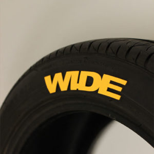 Yellow WIDE Tire Graphics