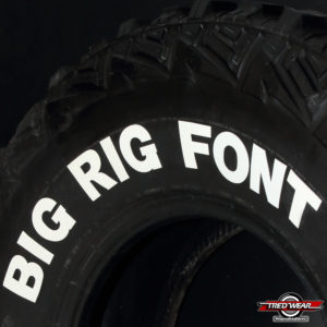 Big Rig Font | Tredwear Letters