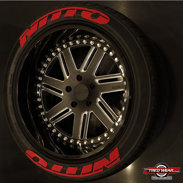 NITTO NITTO RED   TREDWEAR TIRE LETTERS