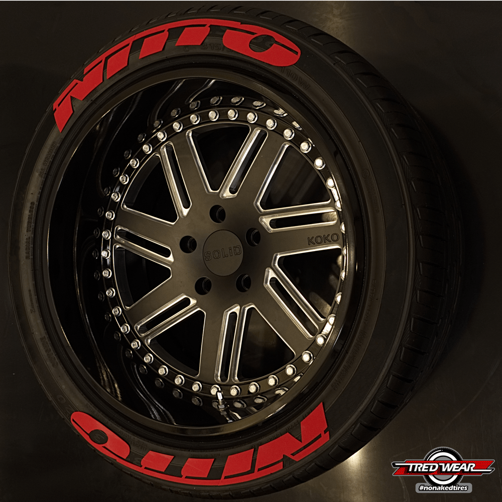 nitto nitto tredwear With nitto tires with red lettering